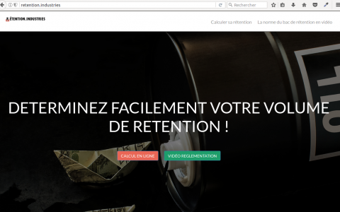 Réalisation du site http://retention.industries